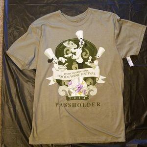 NWT 2014 Disney EPCOT F&W Passholder shirt